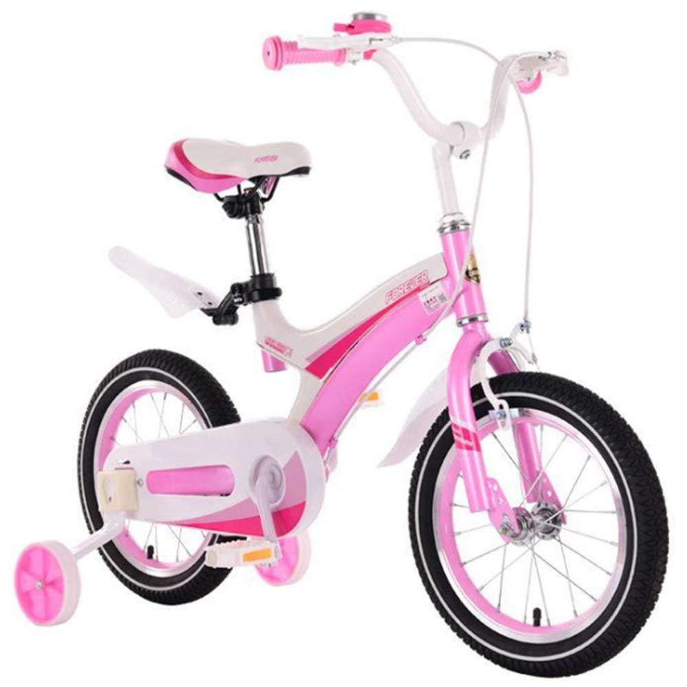 YWZQ Bicicleta para niños, Bicicletas para niños y niñas Asientos portátiles neumáticos Antideslizantes Resistentes Frenos Dobles Seguros y sensibles, Regalos de Juguetes para niños,Rosado,18: Amazon.es: Hogar