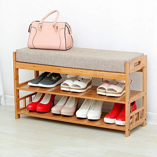 FYHH-JZHY Zapatero Taburete para Zapatos Almacenamiento De Almacenamiento Multifunción Sala De Estar Puerta Taburete para Zapatos Chino Moderno Simple (Tamaño: 70Cm)