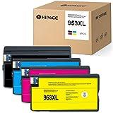 HIPAGE 4 cartucce di inchiostro compatibili con HP OfficeJet Pro 8710 8715 8720 8725 8730 8740 8210 8218 7720 7730