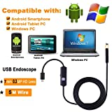 Zhenrong Android USB Endoscope Serpent Tube Caméra d'inspection téléphone Portable Computer 7 Mm-5 m Detective...