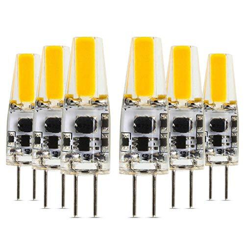 Bombilla LED Bombilla LED G4 Aguja doble Lámpara de silicona LED Lámpara 2W COB Lámpara de ahorro de energía 2700k / 4200k / 6000k / LED Bombilla adecuada for iluminación doméstica CA 12V DC 12V-24V (