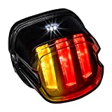 Harley LED Brake Tail Light [F1-Style Flashing Blinker] [Turn Signals] [Claw-Design][DOT][Plug-n-Play] License Running Tail Brake Light Compatible with Harley Davidson Sportster Fatboy Softail Road