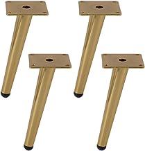 Meubelpoten roestvrij staal, 4 stuks meubelpoten verstelbaar vervanging salontafel poten TV kast been kastvoeten, rubberen...