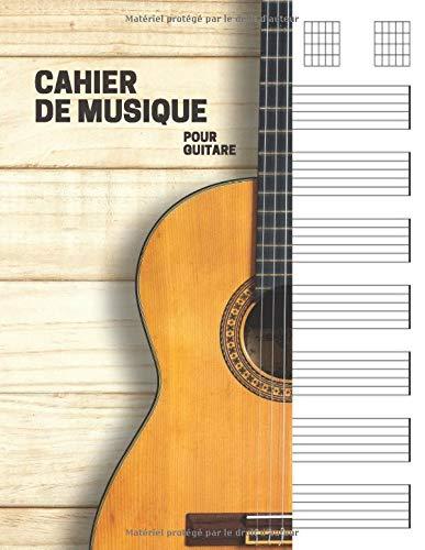 Cahier de musique pour guitare: 7 tablatures et 6 diagrammes d'accords par page. Idéal pour les étudiants, amateurs et professionnels. Cahier de ... bloc guitare (110 pages ,Grand format a4).