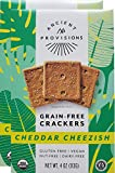Ancient Provisions Vegan Crackers - Plant Based Organic Vegan Cheddar Cheezish, Gluten Free, Grain Free, Dairy Free, Paleo, Nut free, Top 8 Allergen Free - 2 Pack