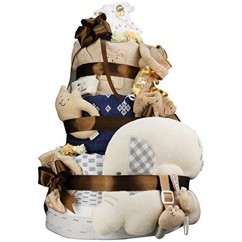 今治タオル imabari towel 出産祝い 日本製 オーガニック 最高級3段DX おむつケーキ おすみつき (ムーニーテープタイプSサイズ)