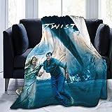 shenguang Twister Movies Manta de Tiro Suave y cálida Manta de Micro Personalidad Ultra Suave con impresión Digital