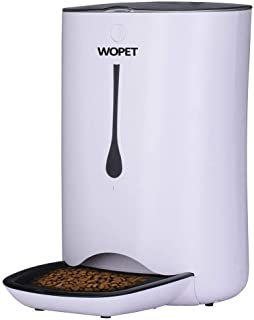 (White) - 7L Pet Feeder,WOpet Automatic Pet Feeder for Cats and Dogs,Auto Pet Feeder Food Dispenser-Features Distribution ...