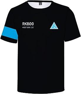 Pandolah Unisex T-Shirt 3D Print Detroit: Become Human Crew Neck Top Novelty Short Sleeve Tee