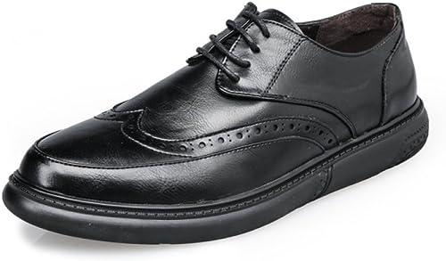 DHFUD Hommes Chaussures Rétro Chaussures Décontractées Hommes d'affaires à Fond épais Hommes Coréens Chaussures