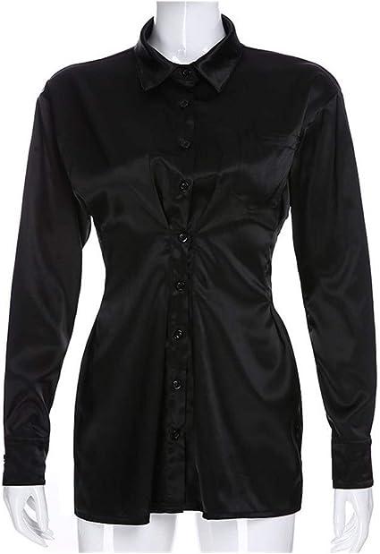 ARTFFEL Elasticidad Otoño Oficina de señora Elegante Camisa ...