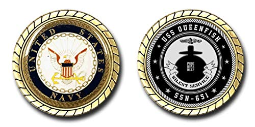 USS Queenfish SSN-651 US Navy Submarine Challenge Coin - Officially Licensed