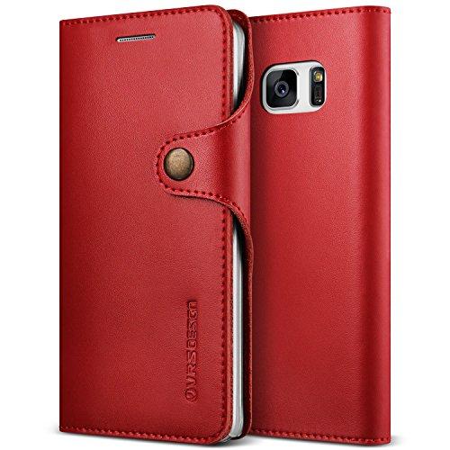 VRS Design Galaxy Note 7Custodia, [Native diario] [Vino]–[Vera Intero Portafoglio] [Slim Fit] [Card Slot] per Samsung Note 7