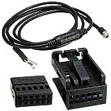 1 Juego de 3,5 mm AUX Auxiliar 12PIN Alambre Negro de música Audio Femenina del Cable en Forma for el E60 E63 5 Serie 6 550i 520d 525d 530d 525xd 530xd