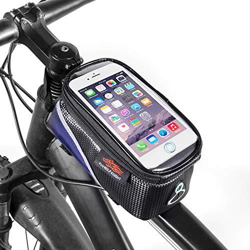Koopan Borsa per bici, borsa per telaio impermeabile, borsa per tubo superiore, bici porta cellulare