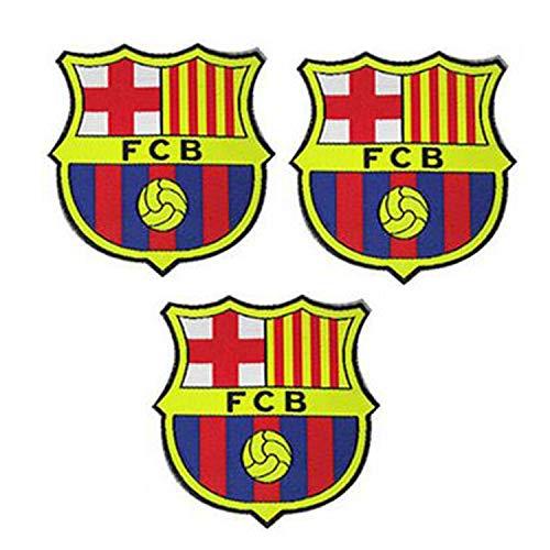 3 piezas FCB FC Barcelona Parches Coser / Planchar en Fútbol Club Emblema Accesorios de apliques deportivos Decoración Parches para jeans Chaqueta Ropa Bolso Zapatos Gorras