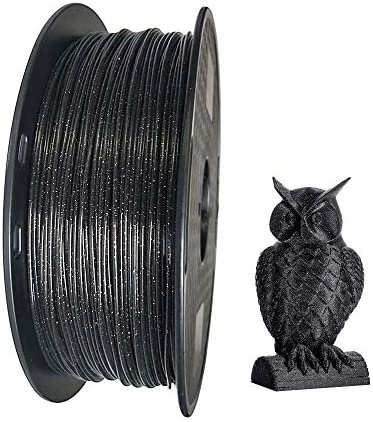 Black Marble PLA Filament 1 75mm 3D Printer Filament 1KG 2 2LBS Glittery Sparkle Shining PLA product image