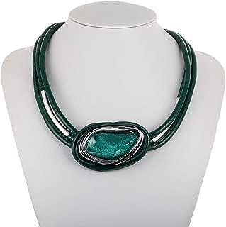 Handmade Vintage en cuir O Ring Cercle Pendentif Collier Collier Tour de cou 80 90