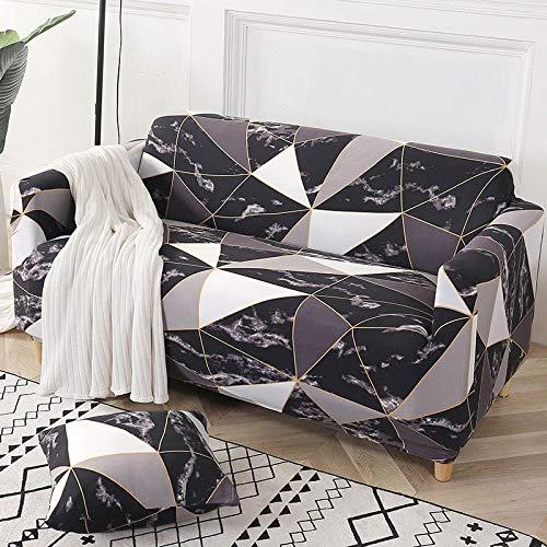 ASCV Funda de sofá de algodón Funda de sofá elástica Fundas de sofá elásticas para Sala de Estar Protector de Muebles de sofá en Forma de L Individual A9 1 Plaza
