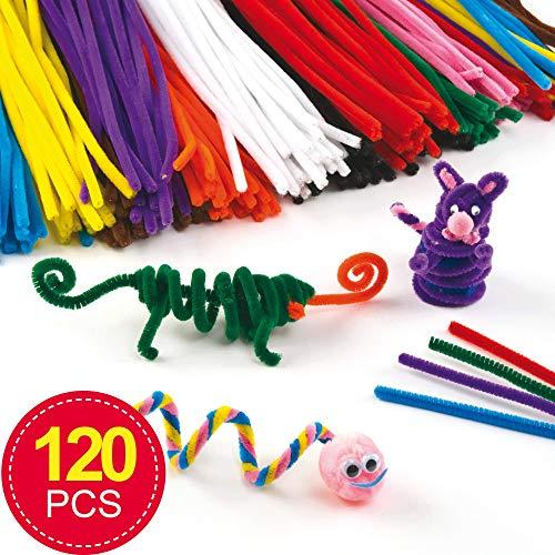 Baker Ross Großpackung Pfeifenreiniger - bunt - für Kinder zum Basteln und Dekorieren - 120 Stück
