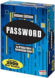 Password Deluxe Edition The Original Word Association Game with 100 Word Cards & 2,000 New Words - Matty's Toy Stop Exclusive