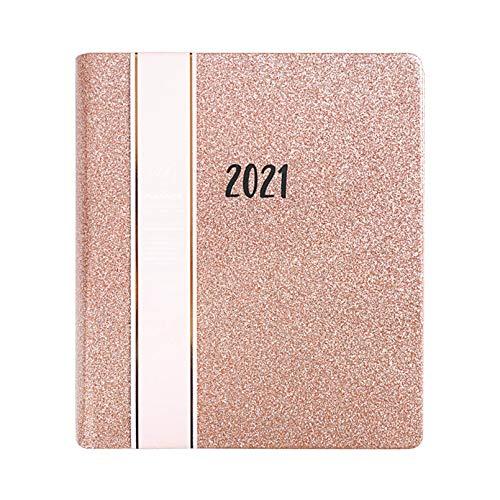 HWY 2021 Planner Agenda Planificador Año Calendario De Papel Vista Día Página Vista De Un Mes Espacio para Escribir Y Apuntar