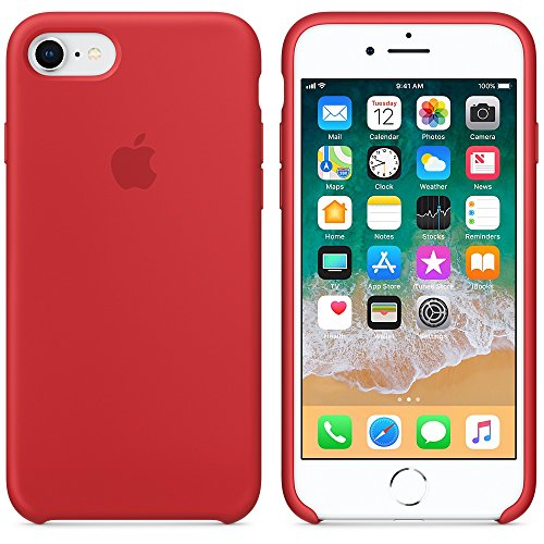 Funda para iPhone 7/8 Carcasa Silicona Suave Colores del Caramelo con Superfino Pelusa Forro,Anti-rasguños Teléfono Caso para Apple iPhone 7/8 (iPhone 7/8, Rojo)