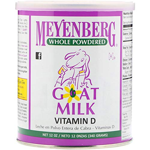 Meyenberg Goat Milk, Whole Powdered Goat Milk, Vitamin D, 12 oz (340 g)