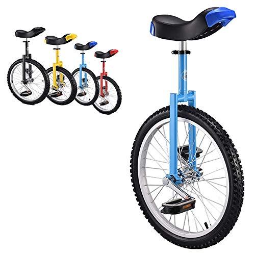 """Einrad 18/16-Zoll-Rad Einrad Geschenke, fur Kinder (Alter 6-14 Jahre), Erwachsene/Jugendliche/Jungen/Madchen 24/20\"""" Outdoor Sports Balance Radfahren (Color : Blue, Size : 20inch)"""