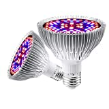 Led Grow Light Bulb, 30W Led Plant Light Full Spectrum, E27 Grow Lamp for Indoor with 40 Pcs LED Plants Veg and Flower, Hydroponics Greenhouse[1 Pack]