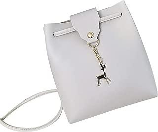 RONSHIN Lady Elegant Deer Pendant Shoulder Satchel Crossbody Bag Bucket Bag