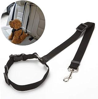 VICSPORT Cinturón de seguridad para asiento de coche para perro, ajustable, duradero, para reposacabezas, cinturón de seguridad de doble uso para mascotas, perros, cachorros y gatos
