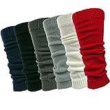 6 Pairs Womens Knit Leg Warmers Ribbed Knee High Leg Warmers Fashionable Stylish Debra Weitzner Assorted 2