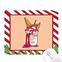 クリームチョコレートビスケットアイスクリーム ゴムクリスマスキャンディマウスパッド
