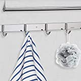 GUOYUN Tendedero Extensible Pared Tendedero Retractable, Ajustable Inoxidable Cuerda Retráctil para Tender Secar Ropa En Interior Y Exteriores (Color : Silver, Size : 60x23.7x16cm)