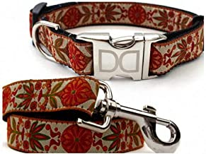 """product image for Diva-Dog 'Venice Ivory' Custom Small Dog 5/8"""" Wide Dog Collar with Plain or Engraved Buckle, Matching Leash Available - Teacup, XS/S"""
