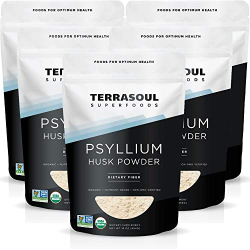 Terrasoul Superfoods Organic Psyllium Husk Powder, 5 Lbs (5 Pack) - Superfine Texture | High Purity | Keto Baking