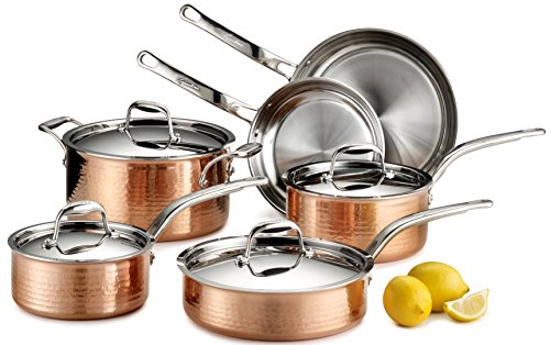 Image of Martellata Copper 10-Piece Set: Bestviewsreviews