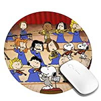 Maxpowerful ピーナッツ スヌーピー Snoopy マウスパッド 丸型 ゲーミングマウスパッド パソコン 周辺機器 光学式マウス対応 オフィス自宅兼用 防水 洗える 滑り止め 高級感 耐久性が良い 20*20cm