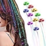 10 Pack LED Lights Hair Light-Up Fiber Optic...