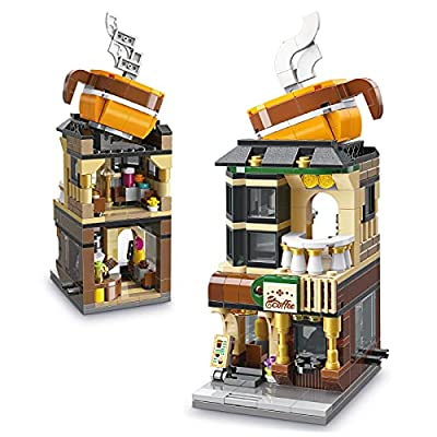 Karei Toys for 6 7 8 9 10 Year Old Girls Boys, Coffee Shop Café Construction Fun Toy Building Kit, Educational STEM Toys for Kids, Christmas Birthday Gifts for 6-12 and Up Year Old Boys Girls by Karei