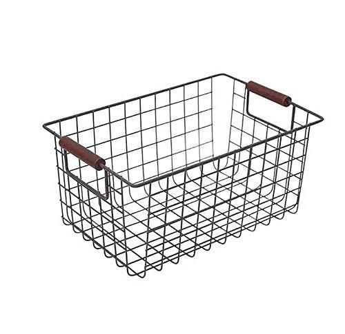 HDSFD Enkel järnkonstförvaringskorg köksmöbler diverse förvaringskorg två 1 sälja