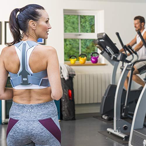 Back Posture HeroTM Sport für Damen und Herren – preisgekrönte Haltungsunterstützung, Charcoal/Grey, Junior (28-32 inches (71cm-81cm)