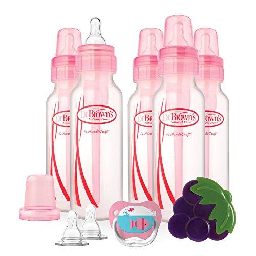 Dr. Brown's Bottles Gift Set – Set de regalo que incluye biberones, chupete, mordedor y tetinas, para…