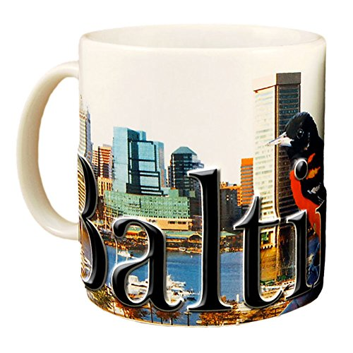 Americaware SMBAL01 Baltimore 18 oz Full Color Relief Mug