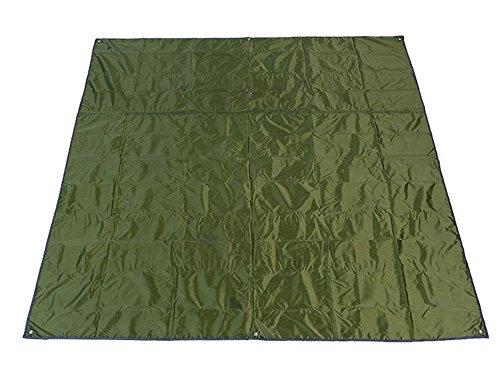 étanche Tapis de pique-nique Tente Bâche Couverture en nylon avec petit sac 215 x215 cm, DE Grande Mlovebiti pour pique-niques Camping Plage Voyage randonnée, Vert armée