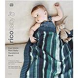 Rico Wollpaket Baby Anleitungsgheft & 10 Knäuel f. Babydecke u. Oberteil zum Stricken Babywolle Junge