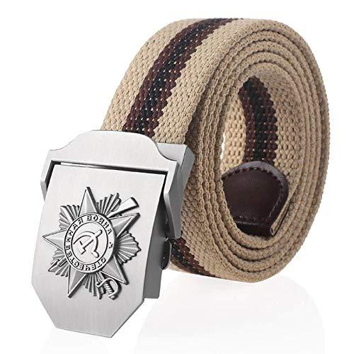 Cintura In Tela,Cintura In Tela A Righe Kaki Da Uomo Cintura Militare Tattica Cintura In Jeans A Doppio Anello Per Uomo Cinturino Da Uomo Di Qualità Maschile Per Giovani Anziani Di Mezza Età Per Tut