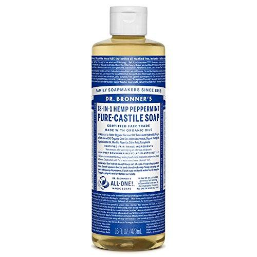 Dr Bronner's Peppermint Castile Flüssigseife, 473 ml