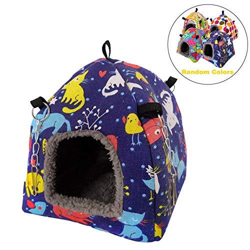 QUUY Mascota Cama cálida de Invierno, Conejillo de Indias Conejo Erizo Hamaca para Dormir Cama Colgante de Cueva para Mascotas Nido de Loro púrpura Nido de pájaro Mascota Jaula de Cueva Colgante